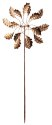 72-Inch Bronze Leaf Kinetic Art Windmill