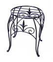 10-Inch Black Plant Stand With Finial