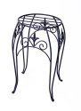 15-Inch Black Plant Stand With Finial
