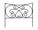 16 x 18-Inch Crossing Scrolls Border Edging