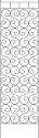 84-Inch Black Cloister Trellis