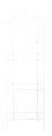 72 x 24-Inch White Victorian Lattice Trellis