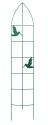 63 x 12-Inch Green Bird Offset Trellis