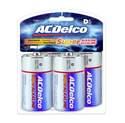 D Alkaline Batteries, 4-Pack