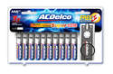Super Alkaline AAA Battery 20-Pack With LED Keychain