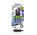 2-Hour Battery Charger, 4- AA Batteries