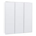 30-Inch Frameless Beveled Mirrored Tri-View Medicine Cabinet