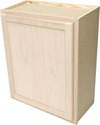 24 x 30 x 12-Inch Premium Hickory Ready-To-Finish Single Door Wall Cabinet