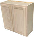 30 x 30 x 12-Inch Premium Hickory Ready-To-Finish Double Door Wall Cabinet