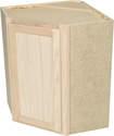24 x 30 x 12-Inch Premium Hickory Ready-To-Finish Corner Wall Cabinet
