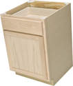 24 x 34-1/2 x 24-Inch Premium Hickory Ready-To-Finish Base Cabinet