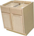 30 x 34-1/2 x 24-Inch Premium Hickory Ready-To-Finish Base Cabinet