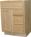 24-Inch X 21-Inch X 34-Inch Unfinished Oak Vanity With Drawers