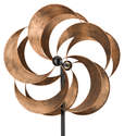 24-Inch Bronze Flower Kinetic Stake