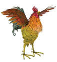 21-Inch Wing Up Napa Rooster Decor
