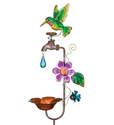 Hummingbird Faucet Bird Feeder Stake