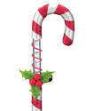 Solar Candy Cane Stake Light