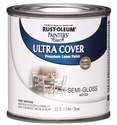 1/2-Pint Semi-Gloss White Brush-On Paint