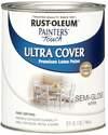 1-Quart Semi-Gloss White Brush-On Paint