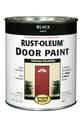 1-Quart Satin Black Brush-On Door Paint