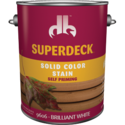 Duckback 740755960647 Superdeck Solid Color Stain Self Priming In Brilliant White 1 Gal
