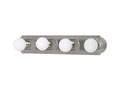 4-Light 24-Inch Brushed Nickel Vanity Light Bar