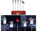 Acrylic Christmas Solar Garden Stake, Assorted Christmas