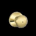 SCHLAGE LOCK CO/MID AM F40VPLY605 Plymouth Knob Bed & Bath Lock Bright Brass