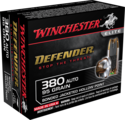 Defender 380 Automatic, 95 Grain Bonded Jacketed Hollow Point Ammunition, 20-Count
