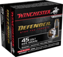 Defender 45 Colt, 225 Grain Bonded Jacketed Hollow Point Ammunition, 20-Count