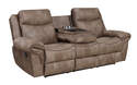 Nashville Cocoa Reclining Sofa With Drop Down Table