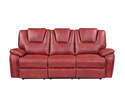 Katrine Red Manual Reclining Sofa