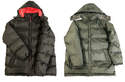 Men's Mixed Full Zip Padded Bubble Jacket, Assorted
