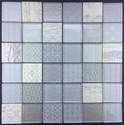 2-Inch X 2-Inch Gray Hamptons Mosaic Tile