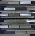 12-Inch X 12-Inch Warm Reflections Waterfall Mosaic Tile