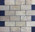 2-Inch X 4-Inch Noce Tumbled Mosaic Tile