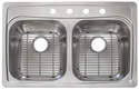 35.5 x 24 x 8.5-Inch Stainless Steel Double Bowl Sink With Grids