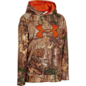 Under Armour 1249748-946-XLG Boys' Armour Fleece Camo Big Logo Hoodie RealTree Xtra Yxl
