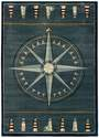 5-Foot 3-Inch X 7-Foot 6-Inch Compass Smoke Blue Area Rug