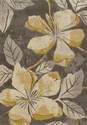5-Foot 3-Inch X 7-Foot 6-Inch Floral Canvas Area Rug