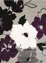 63 x 86-Inch Snow Blossom Plum Rug