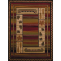 5-Foot 3-Inch X 7-Foot 6-Inch Canoe Sunset Rug