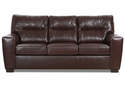 Lavish Chestnut Leather Sofa