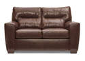 Lavish Chestnut Leather Loveseat