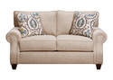 Cannon Beige Stationary Loveseat