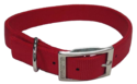 1-Inch X 20-Inch Red Nylon Double Layer Dog Collar