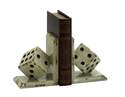 6 x 8-Inch Wooden Bookend With Large Dice
