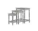 Gray Carved Wood Accent Tables, Set Of 3