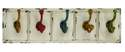 24 x 7-Inch Distressed White Wood & Metal Wall Hooks