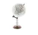 8 x 14-Inch Metal, Marble & Wood Globe Decor